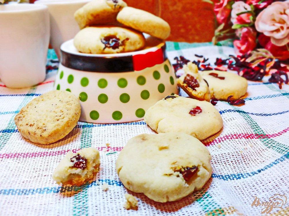 Фото приготовление рецепта: Клюквенное печенье шаг №8