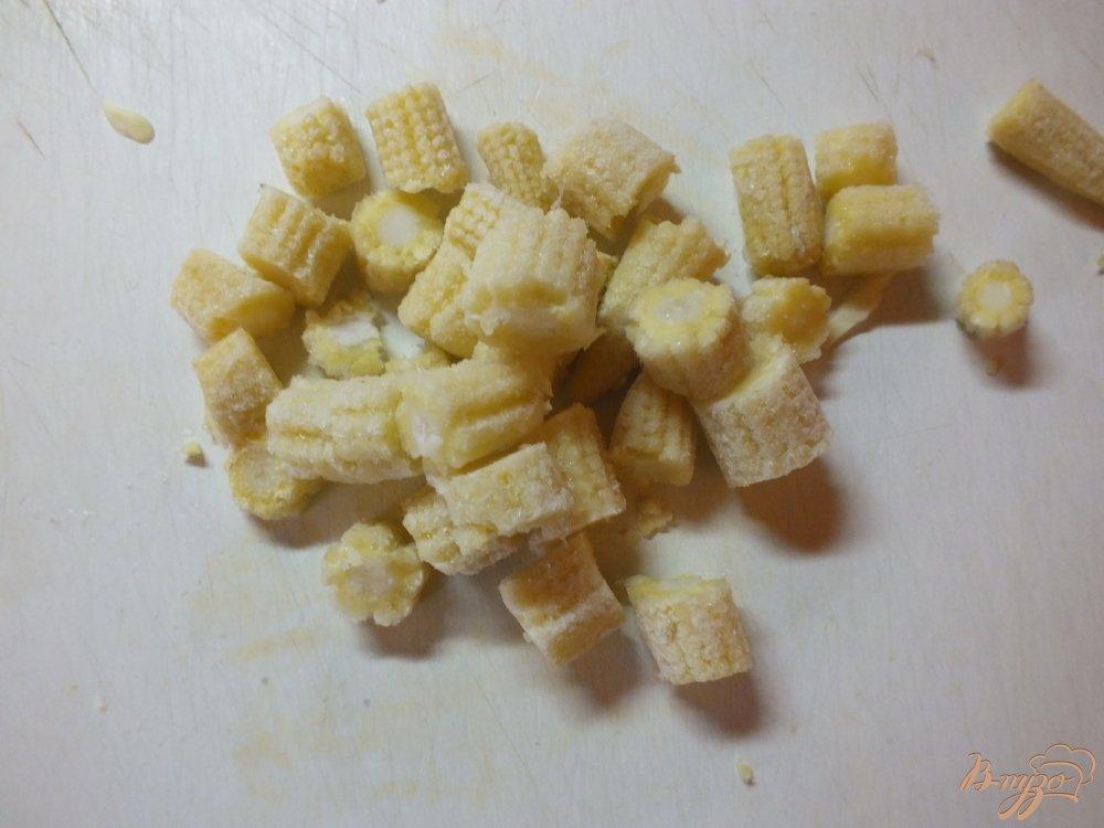 Фото приготовление рецепта: Суп овощной с кукурузными  початками и дайконом шаг №3
