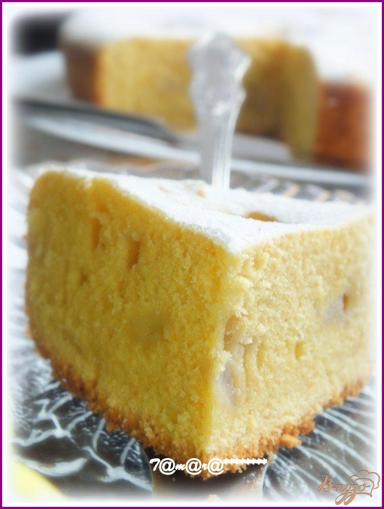 Фото приготовление рецепта: Грушевый пирог на желтках шаг №7