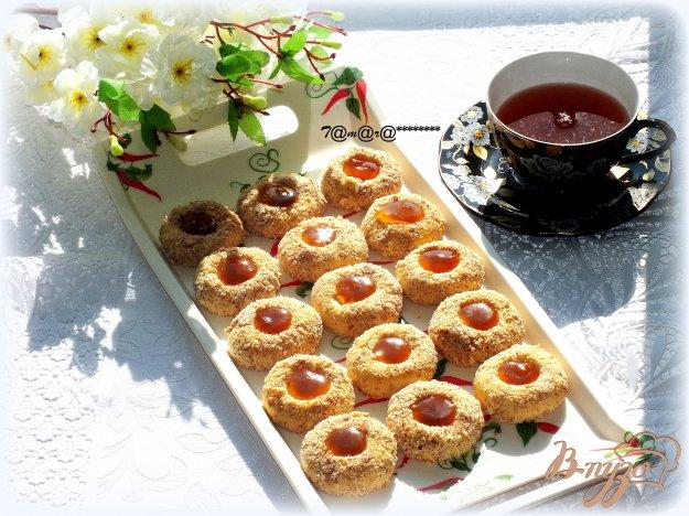 Рецепт Печенье ореховое с абрикосовым джемом