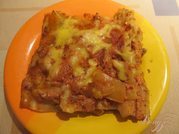 Рецепт Каннеллони с фаршем под томатно-сметанным соусом