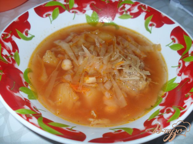 фото рецепта: Борщ с фасолью