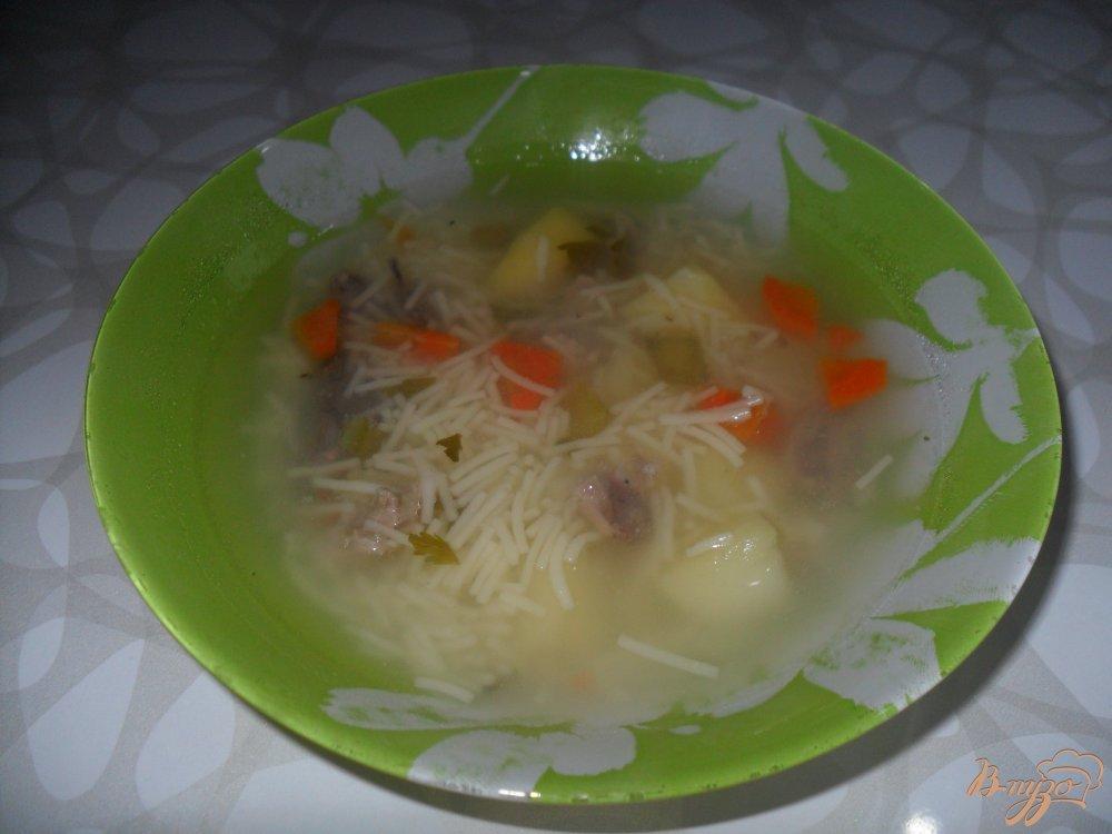 Фото приготовление рецепта: Суп с утиным мясом. шаг №5