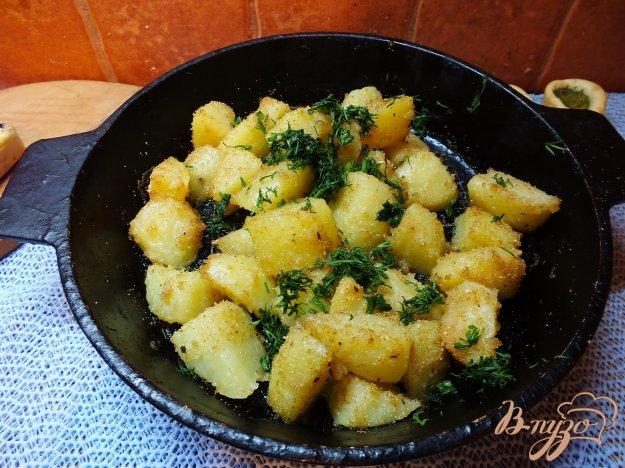 Рецепт Вареный картофель запеченный в панировочных сухарях
