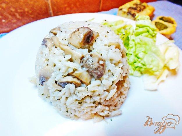 Рецепт Рис с грибами и соевым соусом