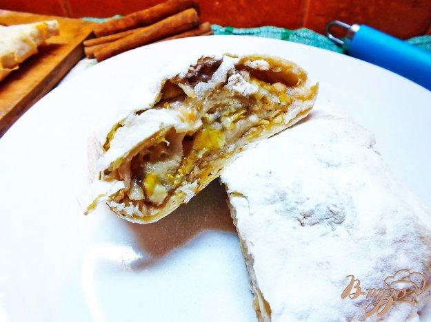 Рецепт Бананово-яблочный штрудель