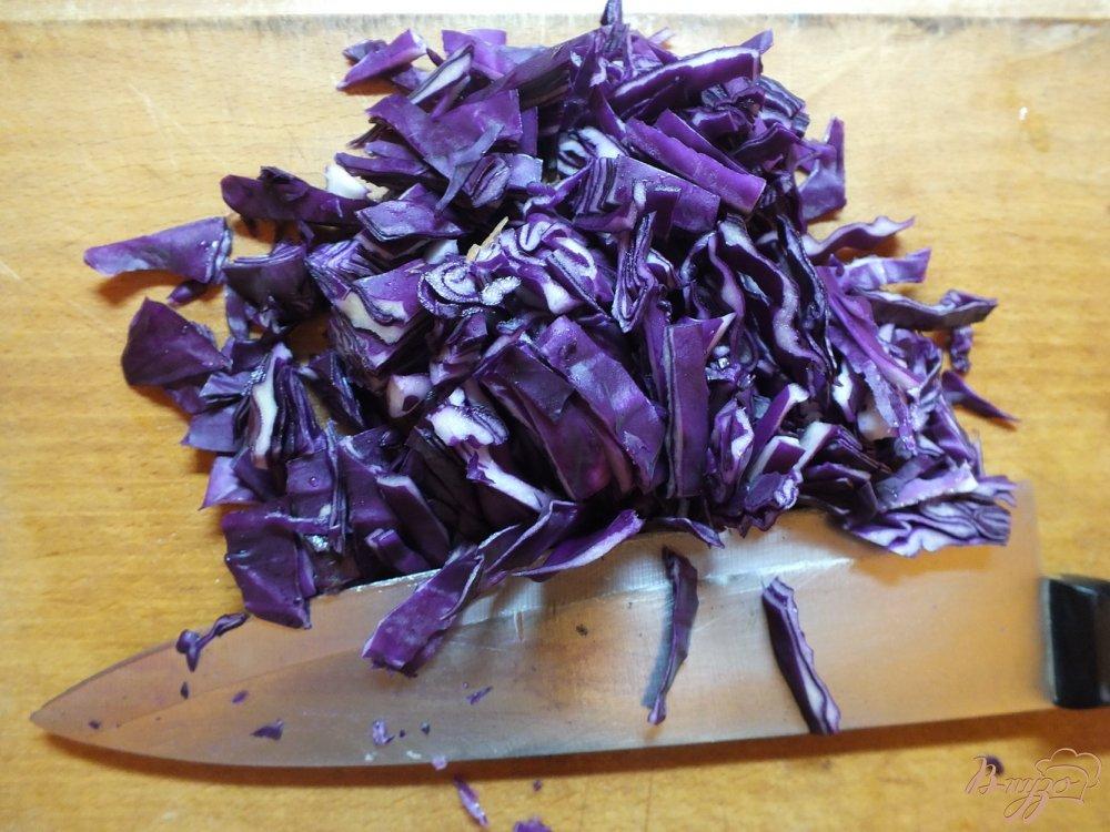 Фото приготовление рецепта: Вкуснейший суп из фиолетовой капусты шаг №3