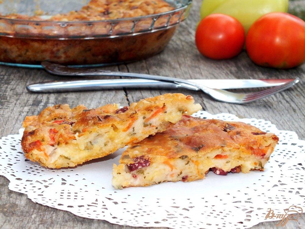 Фото приготовление рецепта: Закрытая пицца-пирог шаг №5