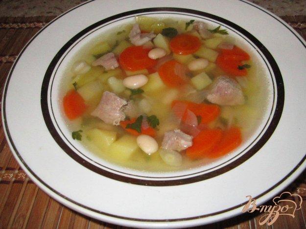 фото рецепта: Суп из фасоли со свининой