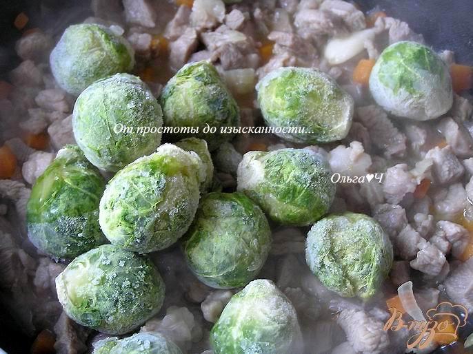 Фото приготовление рецепта: Рагу из индейки с брюссельской капустой шаг №3