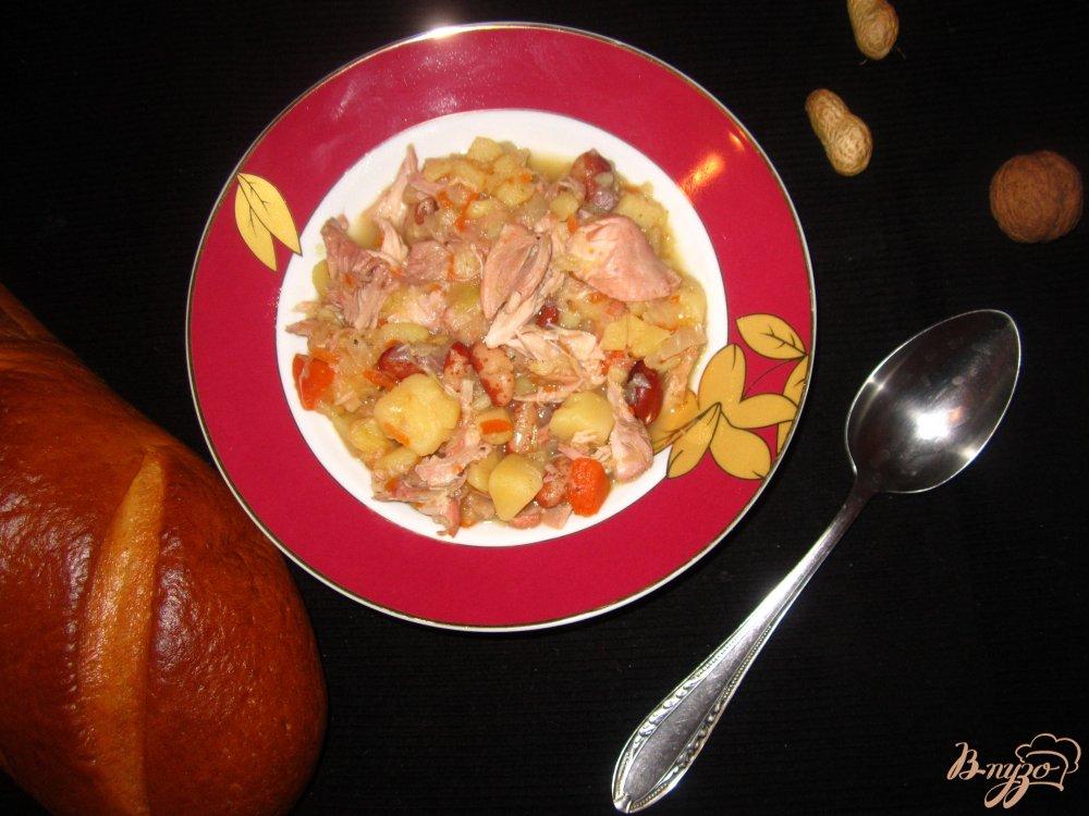 Фото приготовление рецепта: Рагу в мультиварке с курицей и овощами шаг №6
