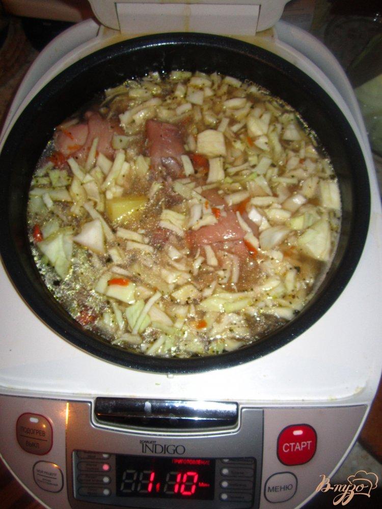 Фото приготовление рецепта: Рагу в мультиварке с курицей и овощами шаг №5