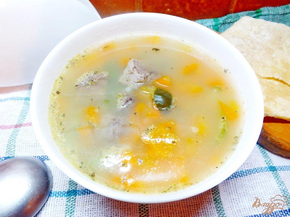 Фото приготовление рецепта: Суп из говядины с соленым огурцом шаг №7