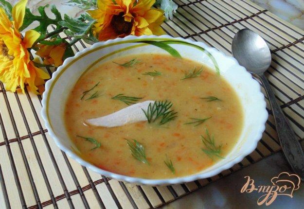 фото рецепта: Гороховый суп с копченой индейкой