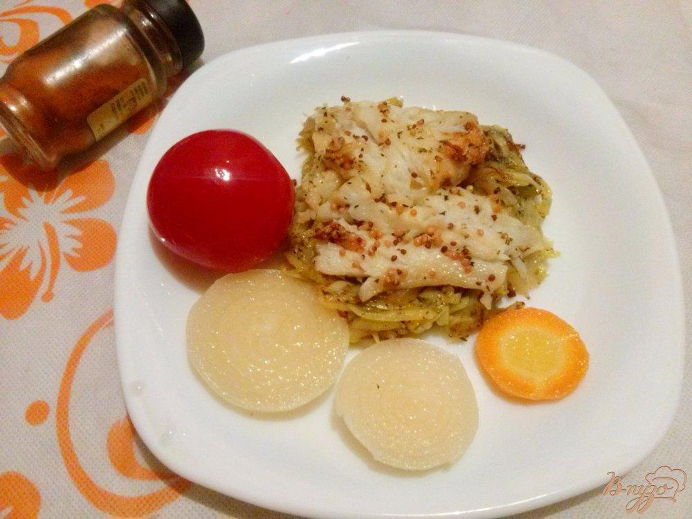 Фото приготовление рецепта: Камбала с ленивым картофелем шаг №5