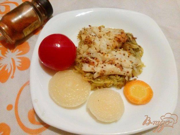 фото рецепта: Камбала с ленивым картофелем