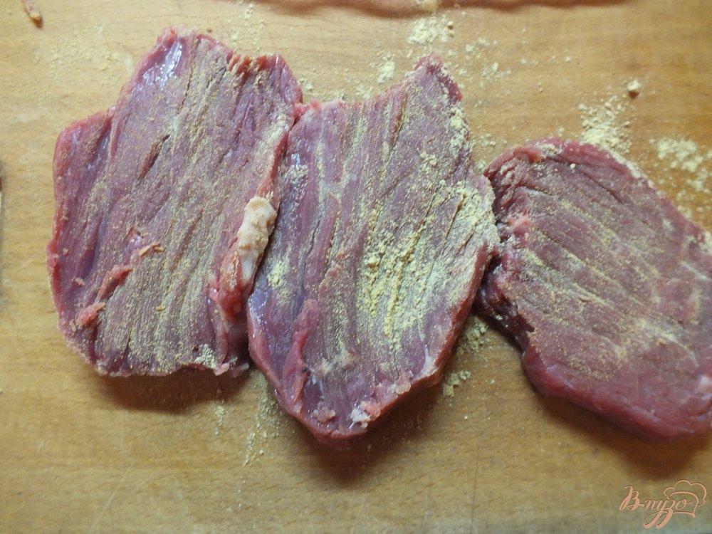 Фото приготовление рецепта: Говядина с кровью в горчице шаг №2