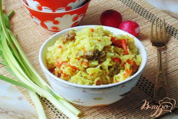 фото рецепта: Куриные желудки с рисом