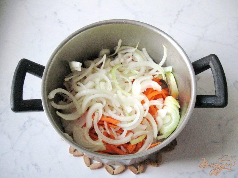 Фото приготовление рецепта: Куриные желудки с рисом шаг №5
