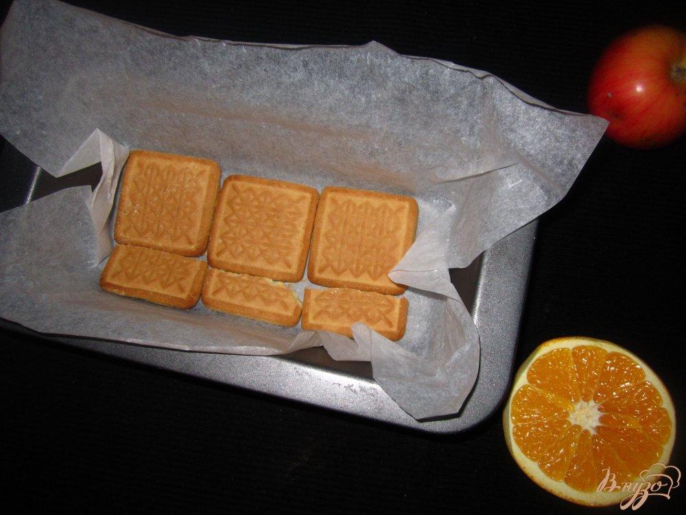 Фото приготовление рецепта: Торт из печенья и сухого молока шаг №4