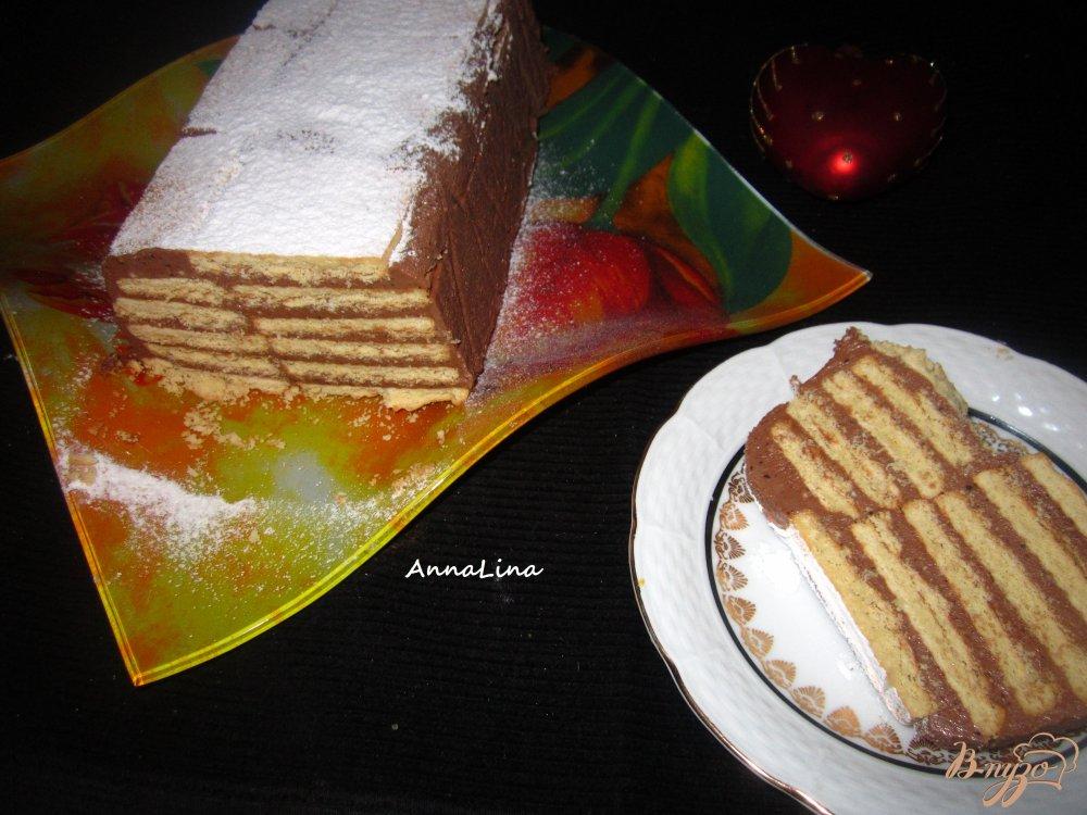 Фото приготовление рецепта: Торт из печенья и сухого молока шаг №7