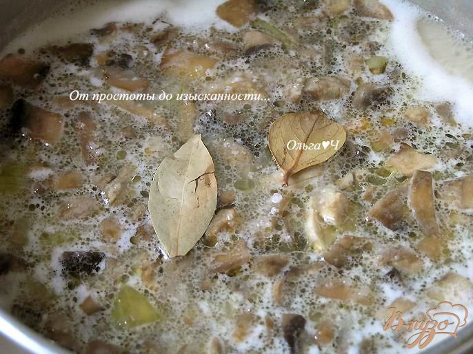 Фото приготовление рецепта: Фасолевый суп-пюре с грибами шаг №5