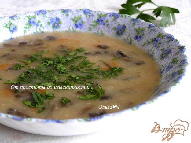 фото рецепта: Фасолевый суп-пюре с грибами