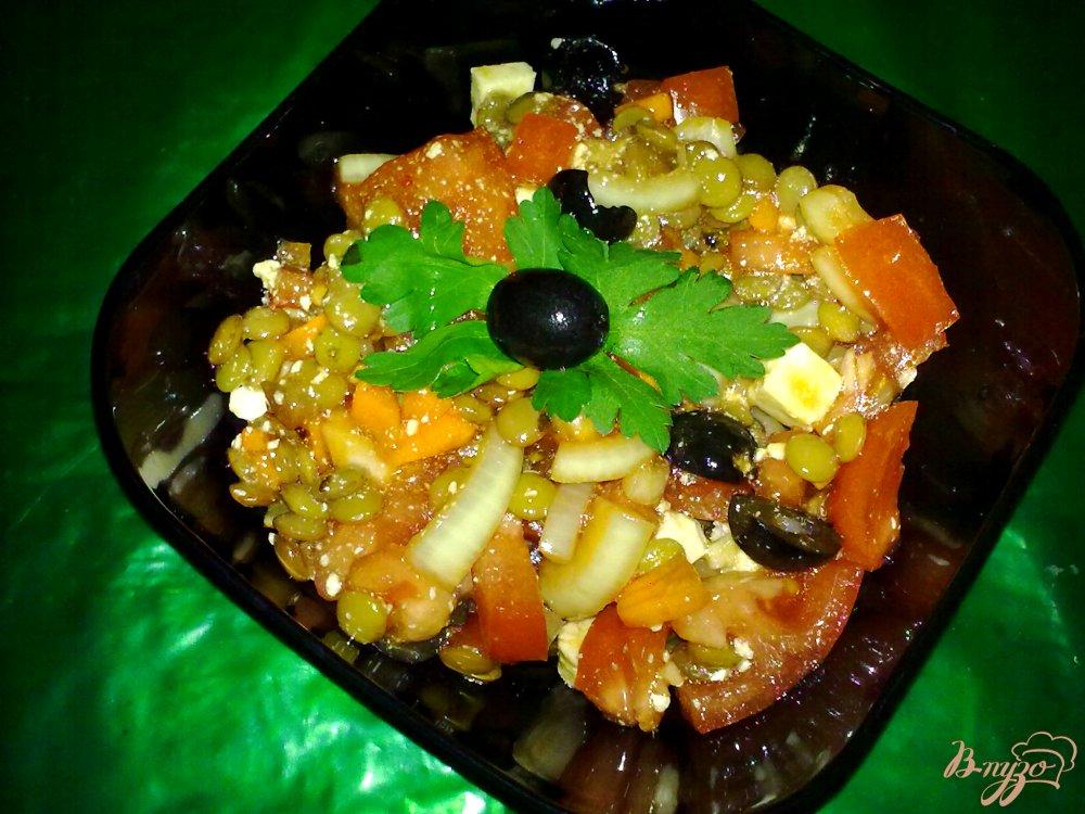Фото приготовление рецепта: Салат с чечевицей шаг №6