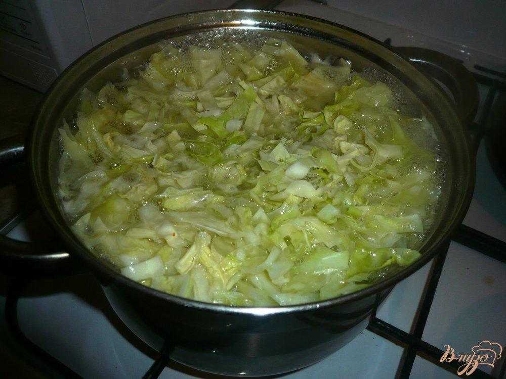 Фото приготовление рецепта: Щи на курином бульоне с луком пореем шаг №5