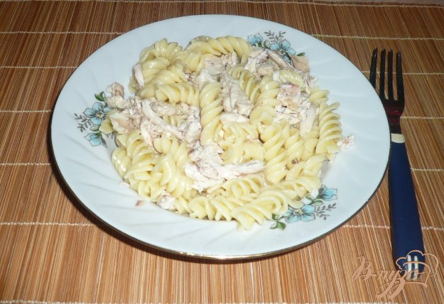 фото рецепта: Макароны с отварной курицей