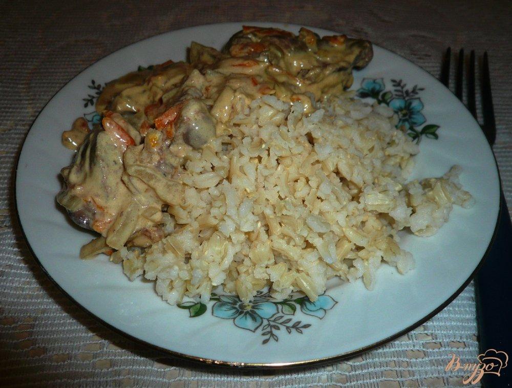 Фото приготовление рецепта: Бурый рис в мультиварке шаг №5