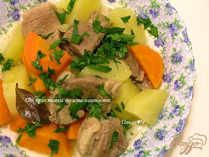 Фото приготовление рецепта: Баранина с овощами в мультиварке шаг №5