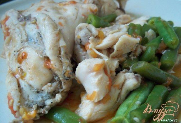 фото рецепта: Курица с зелёной фасолью