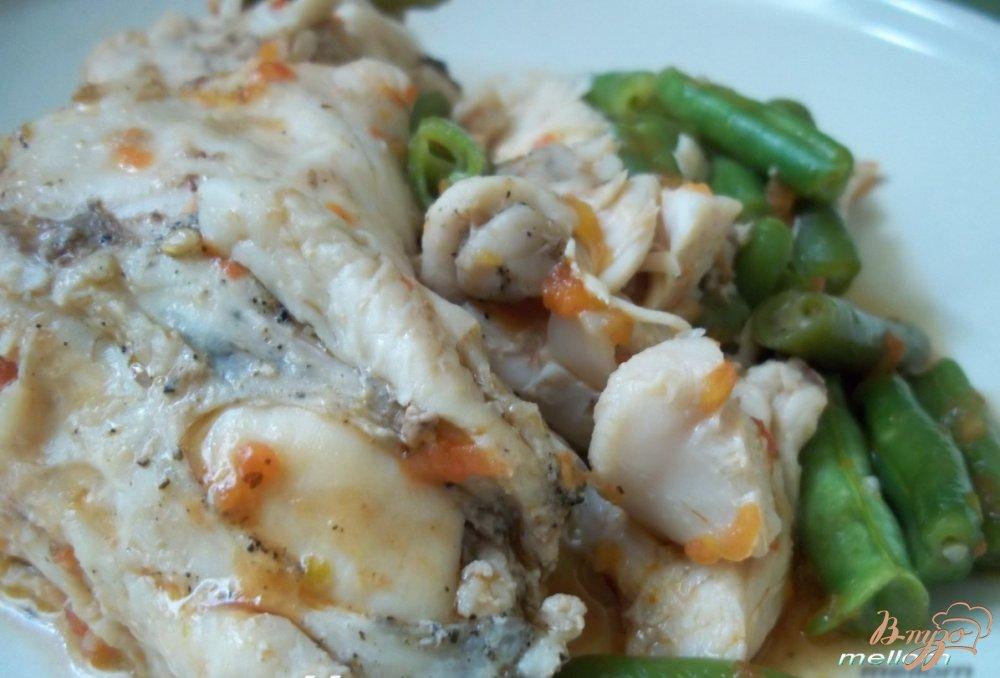 Фото приготовление рецепта: Курица с зелёной фасолью шаг №5