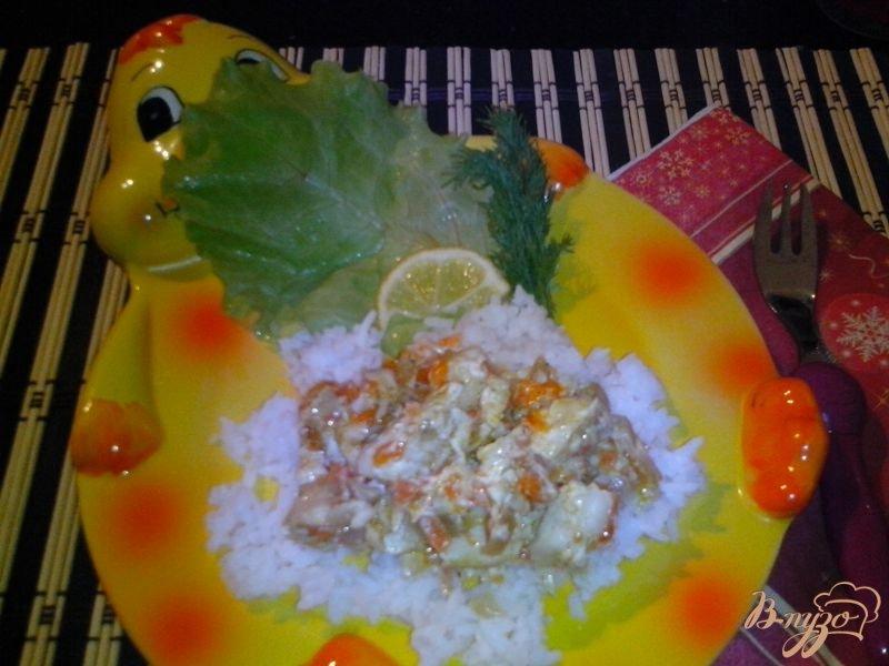 Фото приготовление рецепта: Рыбная фантазия из нототении шаг №6