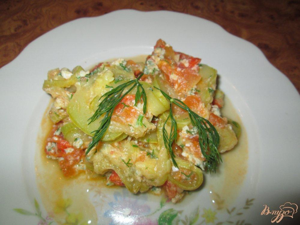 Фото приготовление рецепта: Кабачки с яйцом шаг №7