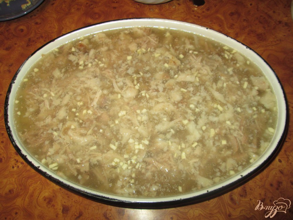 Фото приготовление рецепта: Холодец домашний шаг №8