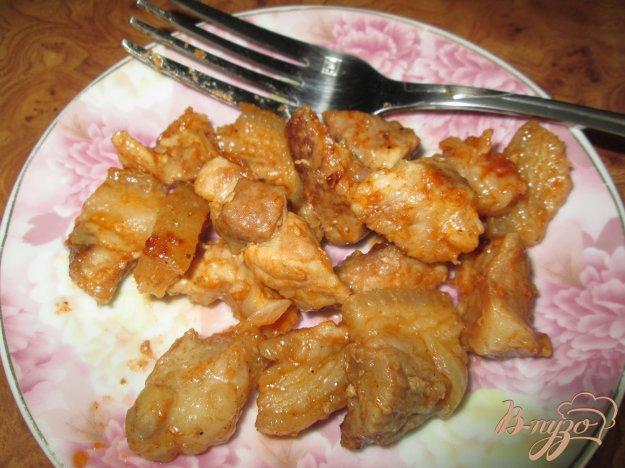 фото рецепта: Жареное мясо со шкварками