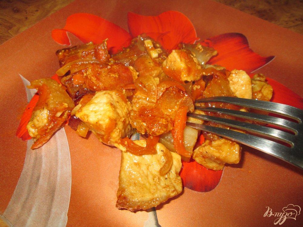 Фото приготовление рецепта: Свинина в соевом соусе по-восточному шаг №7