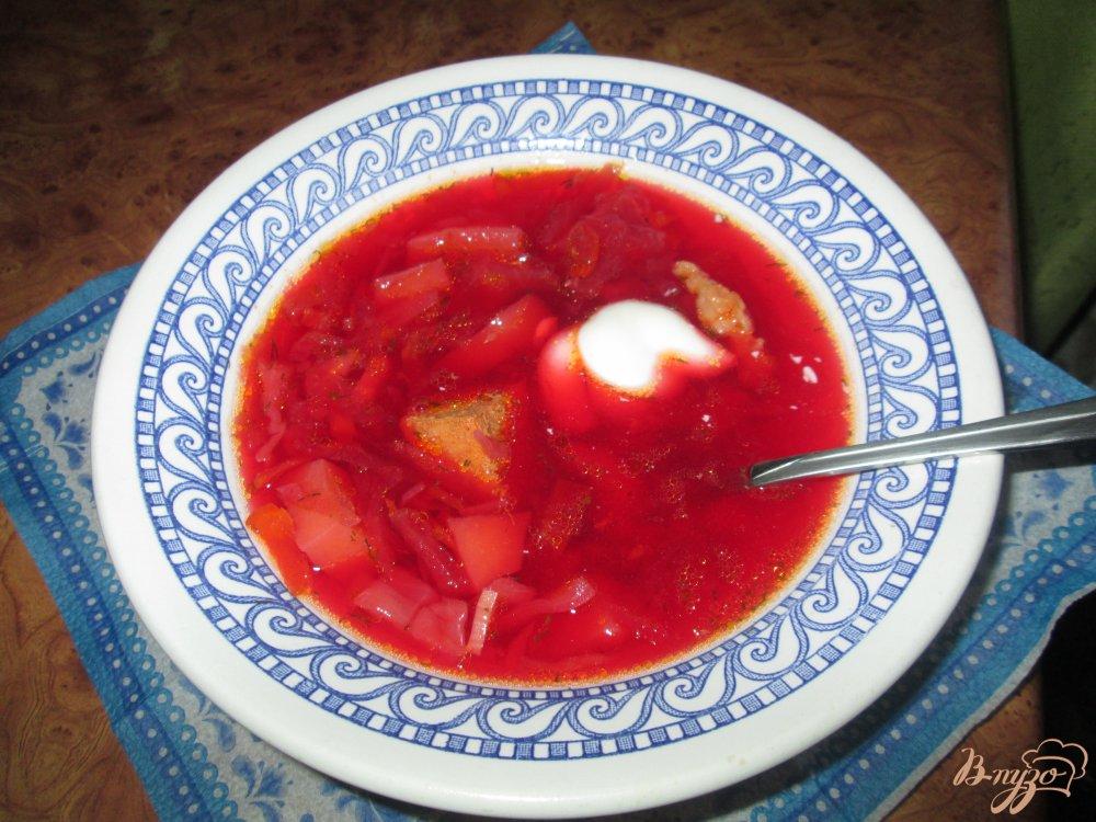 Фото приготовление рецепта: Самый вкусный борщ на сале шаг №11