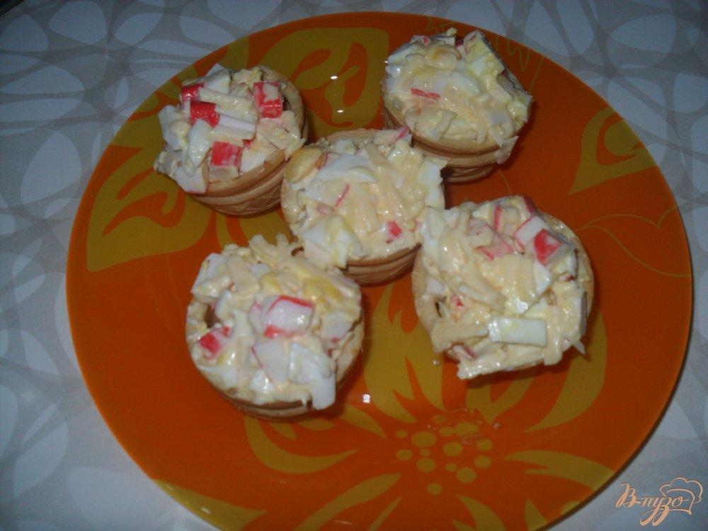Рецепт тарталеток с крабовыми палочками