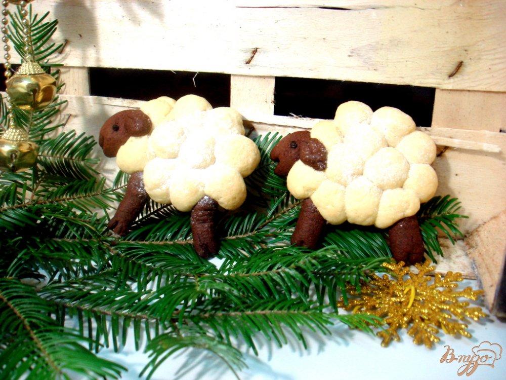 Фото приготовление рецепта: Печенье  овечки шаг №11