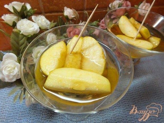 Десерт из яблок вымоченных в роме