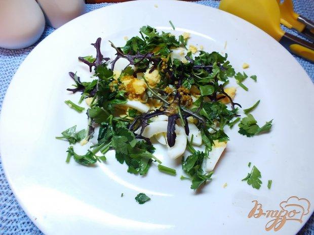 Салат из яиц с руколой