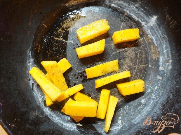 Салат из чечевицы с печеной тыквой