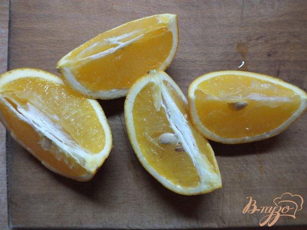 Десерт из апельсина запеченного в роме с розмарином