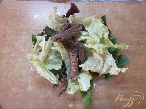Салат с печеной говядиной