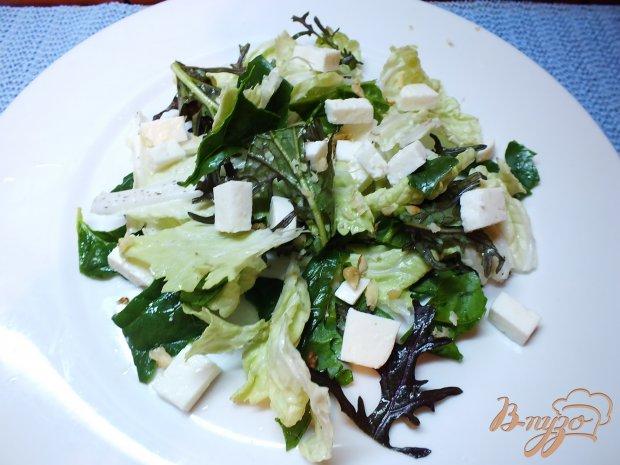 Салат с козьей брынзой и овощами