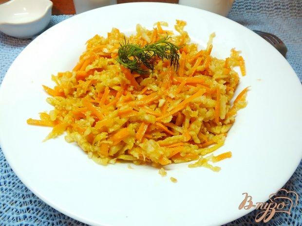 Салат из корня сельдерея с яблоком и морковью
