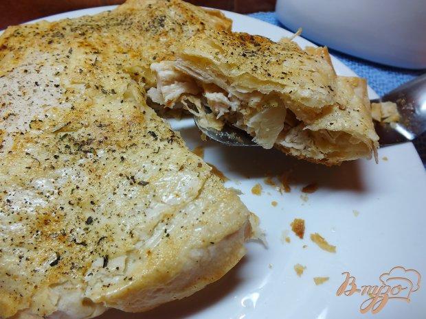 Закусочный пирог из курицы с ананасом